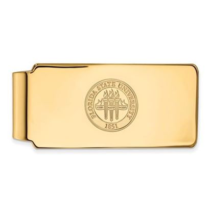Picture of Florida State University Seminoles Sterling Silver Gold Plated Crest Money Clip
