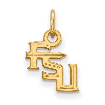 Picture of Florida State University Seminoles Sterling Silver Gold Plated Extra Small Pendant