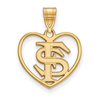 Picture of Florida State University Seminoles Sterling Silver Gold Plated Heart Pendant
