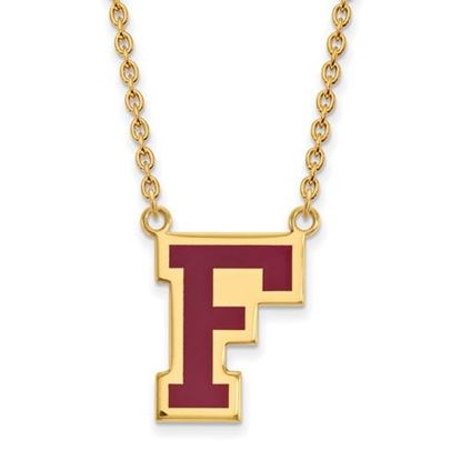 Picture of Fordham University Rams Sterling Silver Gold Plated Enameled Large Necklace