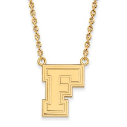 Picture of Fordham University Rams Sterling Silver Gold Plated Large Necklace