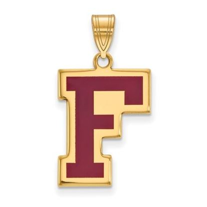 Picture of Fordham University Rams Sterling Silver Gold Plated Enameled Large Pendant