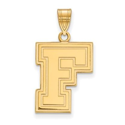 Picture of Fordham University Rams Sterling Silver Gold Plated Large Pendant