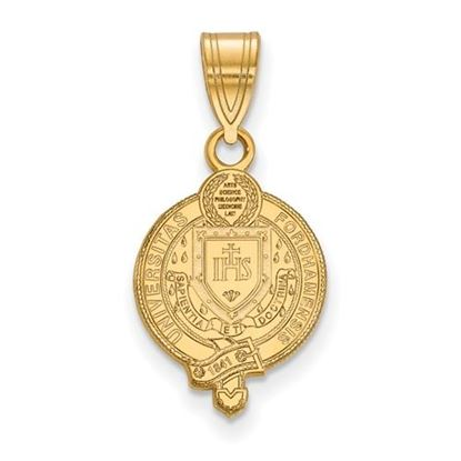 Picture of Fordham University Rams Sterling Silver Gold Plated Medium Crest Pendant