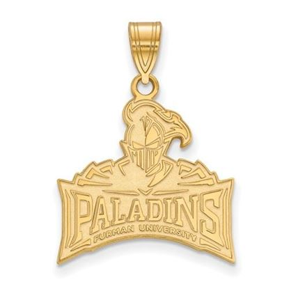 Picture of Furman University Paladins Sterling Silver Gold Plated Large Pendant