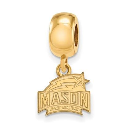 Picture of George Mason University Patriots Sterling Silver Gold Plated Extra Small Bead Charm