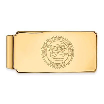 Picture of George Mason University Patriots Sterling Silver Gold Plated Crest Money Clip