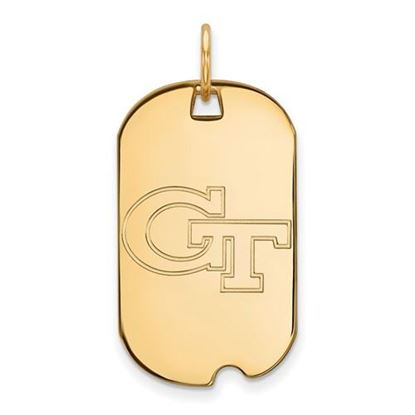 Picture of Georgia Tech Yellow Jackets Sterling Silver Gold Plated Small Dog Tag