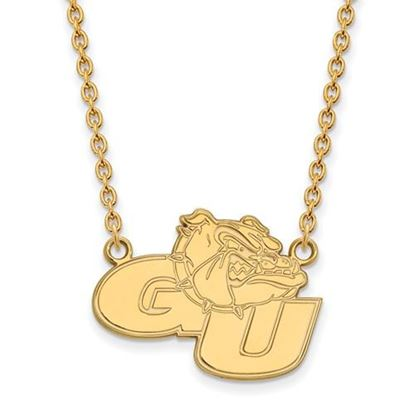 Picture of Gonzaga University Bulldogs Sterling Silver Gold Plated Large Necklace