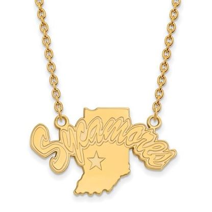 Picture of Indiana State University Sycamores Sterling Silver Gold Plated Large Necklace