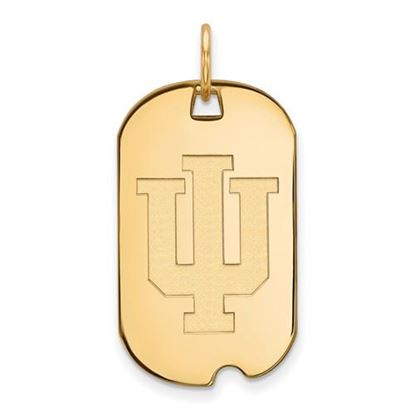 Picture of Indiana University Hoosiers Sterling Silver Gold Plated Small Dog Tag