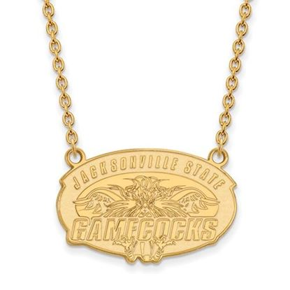 Picture of Jacksonville State University Gamecocks Sterling Silver Gold Plated Large Necklace