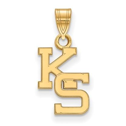 Picture of Kansas State University Wildcats Sterling Silver Gold Plated Small Pendant