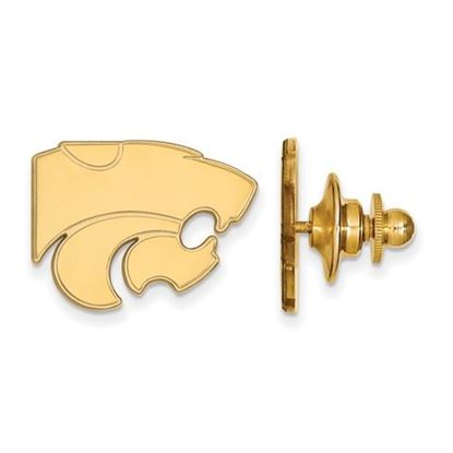 Picture of Kansas State University Wildcats Sterling Silver Gold Plated Lapel Pin