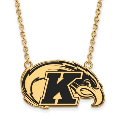Picture of Kent State University Golden Flashes Sterling Silver Gold Plated Large Enameled Necklace