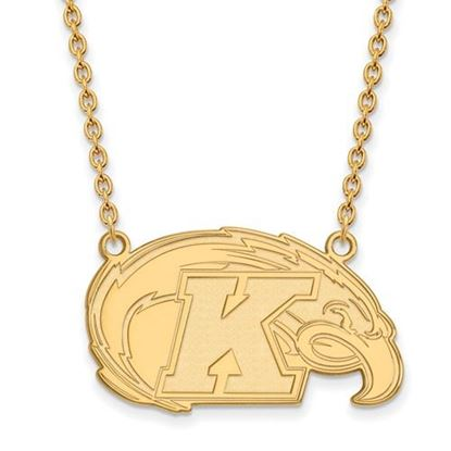 Picture of Kent State University Golden Flashes Sterling Silver Gold Plated Large Necklace