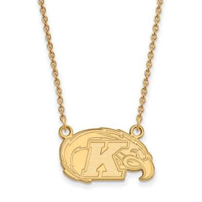 Picture of Kent State University Golden Flashes Sterling Silver Gold Plated Small Necklace