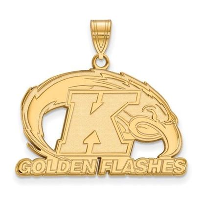 Picture of Kent State University Golden Flashes Sterling Silver Gold Plated Large Pendant