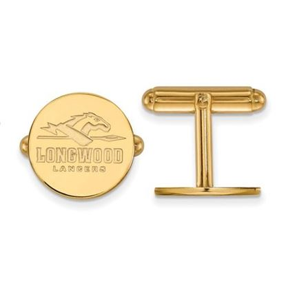 Picture of Longwood University Lancers Sterling Silver Gold Plated Cuff Links