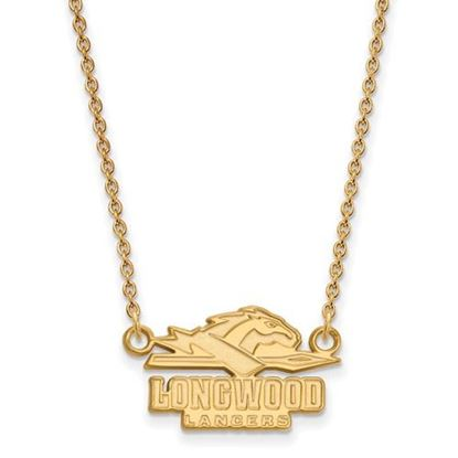 Picture of Longwood University Lancers Sterling Silver Gold Plated Small Necklace