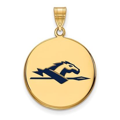 Picture of Longwood University Lancers Sterling Silver Gold Plated Large Enameled Disc Pendant