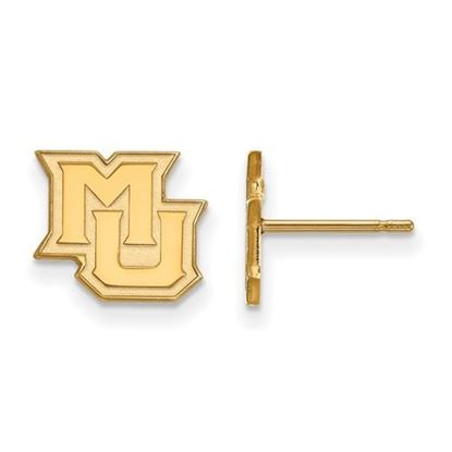 Picture of Marquette University Golden Eagles Sterling Silver Gold Plated Extra Small Post Earrings