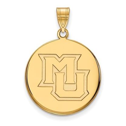 Picture of Marquette University Golden Eagles Sterling Silver Gold Plated Large Disc Pendant