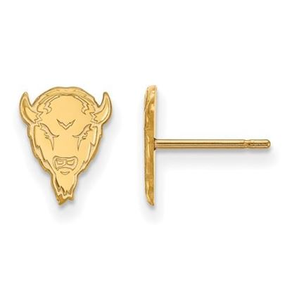 Picture of Marshall University Thundering Herd Sterling Silver Gold Plated Extra Small Post Earrings