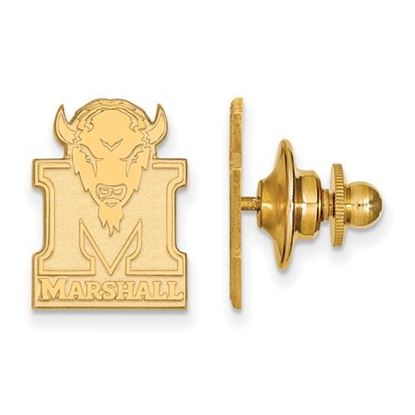 Picture of Marshall University Thundering Herd Sterling Silver Gold Plated Lapel Pin
