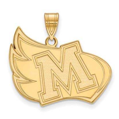 Picture of Meredith College Avenging Angels Sterling Silver Gold Plated Extra Large Pendant