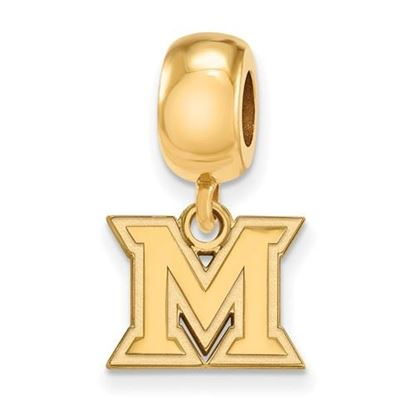 Picture of Miami University Redhawks Sterling Silver Gold Plated Extra Small Bead Charm