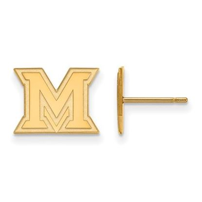Picture of Miami University Redhawks Sterling Silver Gold Plated Extra Small Post Earrings