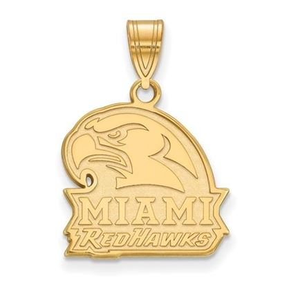 Picture of Miami University Redhawks Sterling Silver Gold Plated Medium Pendant