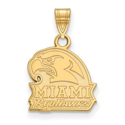 Picture of Miami University Redhawks Sterling Silver Gold Plated Small Pendant