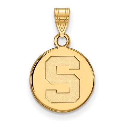 Picture of Michigan State University Spartans Sterling Silver Gold Plated Small Disc Pendant
