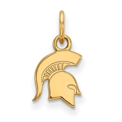 Picture of Michigan State University Spartans Sterling Silver Gold Plated Extra Small Pendant