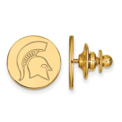Picture of Michigan State University Spartans Sterling Silver Gold Plated Lapel Pin