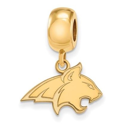 Picture of Montana State University Bobcats Sterling Silver Gold Plated Small Dangle Bead