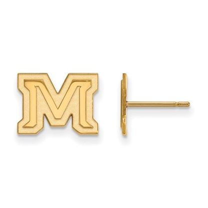 Picture of Montana State University Bobcats Sterling Silver Gold Plated Extra Small Post Earrings