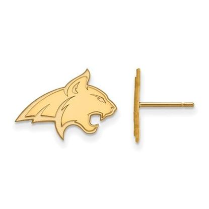Picture of Montana State University Bobcats Sterling Silver Gold Plated Small Post Earrings