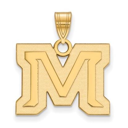 Picture of Montana State University Bobcats Sterling Silver Gold Plated Medium Pendant