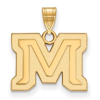 Picture of Montana State University Bobcats Sterling Silver Gold Plated Small Pendant