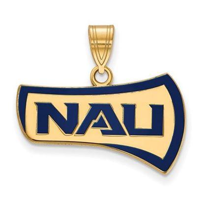 Picture of Northern Arizona University Lumberjacks Sterling Silver Gold Plated Large Enameled Pendant