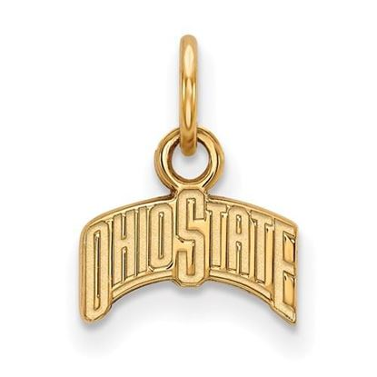 Picture of Ohio State University Buckeyes Sterling Silver Gold Plated Extra Small Pendant
