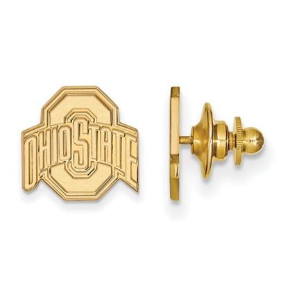 Picture of Ohio State University Buckeyes Sterling Silver Gold Plated Lapel Pin