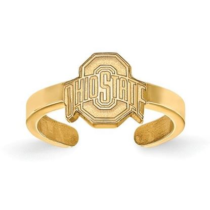 Picture of Ohio State University Buckeyes Gold Plated Toe Ring
