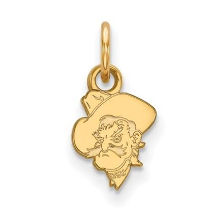 Picture of Oklahoma State University Cowboys Sterling Silver Gold Plated Extra Small Pendant
