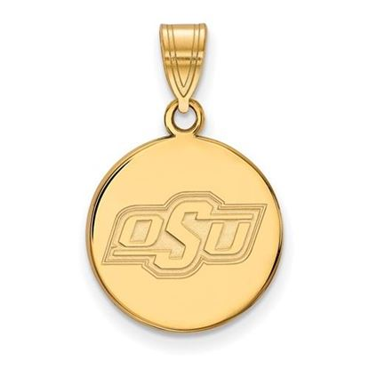 Picture of Oklahoma State University Cowboys Sterling Silver Gold Plated Medium Disc Pendant