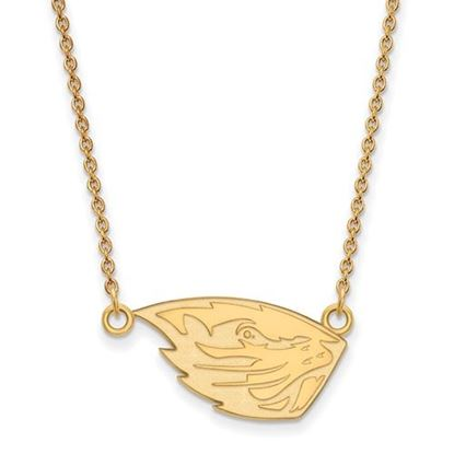 Picture of Oregon State University Beavers Sterling Silver Gold Plated Small Necklace