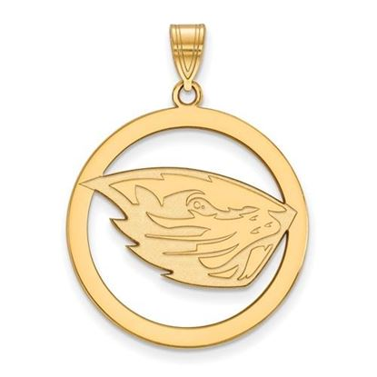 Picture of Oregon State University Beavers Sterling Silver Gold Plated Large Circle Pendant